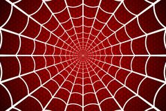 Free Spider Web. Cobweb On Red Background. Vector Illustration Royalty Free Stock Images - 128795249