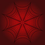 Spider web, cobweb on red dotted background. Vector illustration. Spider web, cobweb on gradient red dotted background. Vector illustration Stock Photos