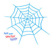 Spider web. Felt pen drawing of spider web Royalty Free Stock Photography