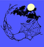 Spider web frame Royalty Free Stock Image