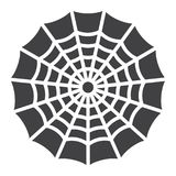 Spider web glyph icon, halloween and scary. Cobweb sign vector graphics, a solid pattern on a white background, eps 10 Stock Illustration