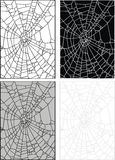Spider web or hole in the glass Royalty Free Stock Photos