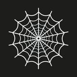 Spider web icon on black background. Vector illustration Royalty Free Stock Photos
