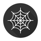 Spider web icon flat. Halloween illustration Stock Photos