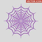 Spider web icon on grey background. Vector illustration Royalty Free Stock Image