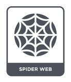 spider web icon in trendy design style. spider web icon isolated on white background. spider web vector icon simple and modern stock illustration