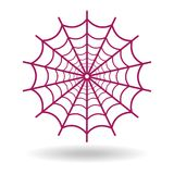 Spider web icon on white background. Vector illustration Stock Image