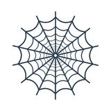 Spider web icon on white background. Vector illustration Stock Photo