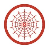 Spider web icon on white background. Vector illustration Royalty Free Stock Images