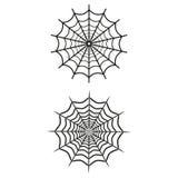 Spider web icons on white background. Vector illustration royalty free illustration