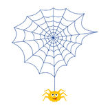 The spider and the web. Insect. Animation. Stock Image