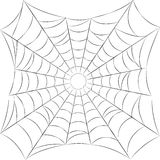 Spider web isolated.Black line. Stock Image