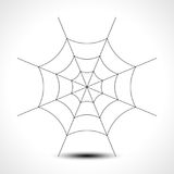 Spider web isolated on white background. Vector illustration Royalty Free Stock Image