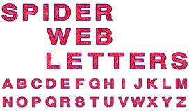 Spider web letters Royalty Free Stock Image
