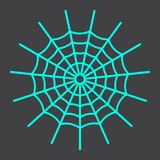 Spider web line icon, halloween and scary. Cobweb sign vector graphics, a linear pattern on a black background, eps 10 Royalty Free Stock Images