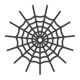 Spider web line icon, halloween and scary. Cobweb sign vector graphics, a linear pattern on a white background, eps 10 Stock Illustration