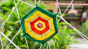 Spider web. Made from Thai silk Royalty Free Stock Image