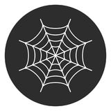 Spider web round vector button Stock Photo