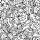 Spider web seamless pattern Royalty Free Stock Photo