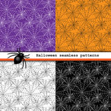 Spider web seamless patterns Stock Image