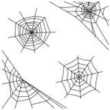 Spider web set isolated on white background. Stock Photo