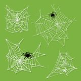 Spider web silhouette arachnid fear graphic flat scary animal design nature insect danger horror halloween vector icon. Stock Photo
