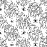 Spider web silhouette arachnid fear graphic flat scary animal design nature insect danger horror halloween vector Royalty Free Stock Photos