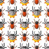 Spider web silhouette arachnid fear seamless pattern scary animal design nature insect danger horror halloween vector Stock Photo
