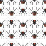 Spider web silhouette arachnid fear seamless pattern scary animal design Stock Photos
