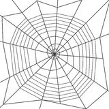 Spider web, spiral type. Halloween decoration. Royalty Free Stock Photo