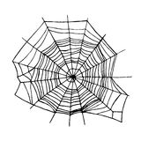 Spider Web. Vector. Spider Web Insect Trap Symbol of Danger, Horror and Fear Design Element. Vector illustration Royalty Free Stock Image