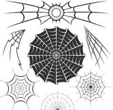Spider Webs. Clip art collection of spider web designs Stock Photography