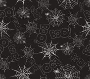 Spider on webs seamless pattern Stock Photos