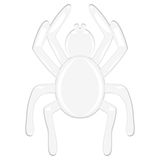 Spider on a white background Stock Photography