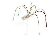Spider from wires. The photo contains Clipping Path Stock Photography