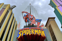 Spiderman. Roller coaster at universal studio orlando Royalty Free Stock Photography