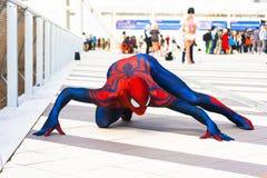 Spiderman cosplay Stock Image