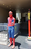 Spiderman dans Holliywood Photographie stock