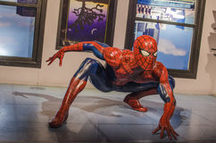 Spiderman. In the famous wax museum Madame tussauds london, england