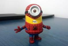 Spiderman Minion royalty-vrije stock foto's