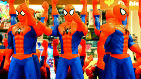 Spiderman plastic toys Royalty Free Stock Photos