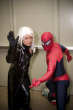 Spiderman and Storm at Baltimore Comicon Convention Stock Image