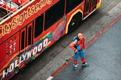 Spiderman on streets Royalty Free Stock Photo