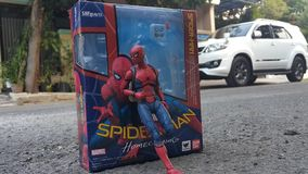 Spidermanheimkehrklage stockfotografie