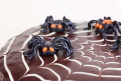 Spiders on the cake Royalty Free Stock Images