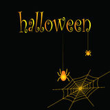 Spiders and cobwebs as a symbol of Halloween Stock Photo