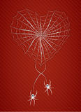 Spiders with heart. Illustration 10 version Stock Image