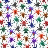 Spiders Pattern Colorful Tarantulas stock illustration