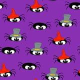 Spiders_Seamless背景 免版税库存图片