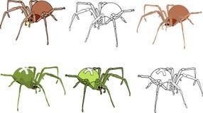 Spiders set royalty free illustration